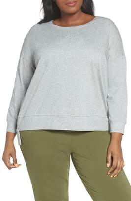 Eileen Fisher High/Low Cotton Sweatshirt