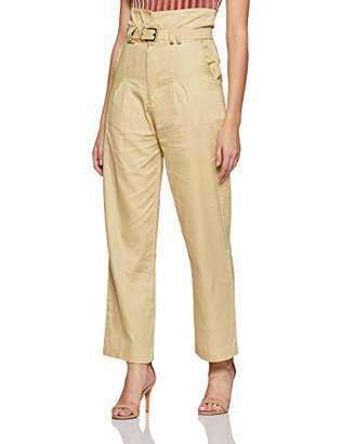 Boutique23 Women's High Waist Pleated Pants with a Belt