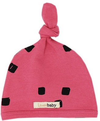 L'ovedbaby Top-Knot Hat Berry Stone 3-6 Months