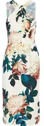 Sachin + Babi Ramani Twist-Front Floral-Print Crepe Dress