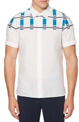 Perry Ellis Abstract Button-Front Shirt