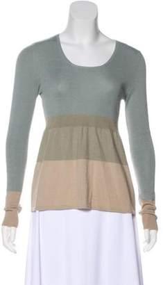 Akris Punto Wool & Cashmere-Blend Striped Sweater