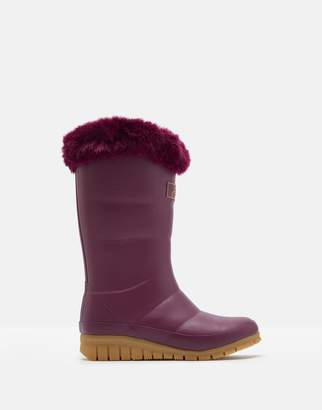 Joules Downton Faux Fur Trim Winter Wellies