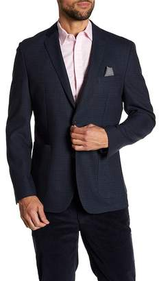 Vince Camuto Houndstooth Notch Collar Double Button Slim Fit Blazer