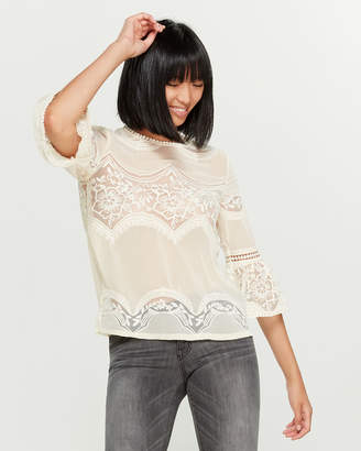 Anna Sui Sui By Victorian Lace Blouse