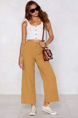 Nasty Gal Linen There Wide-Leg Pants