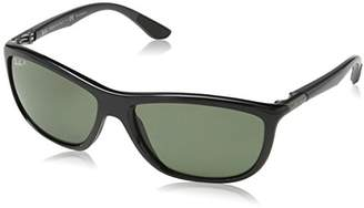 Ray-Ban Injected Man Sunglasses - Frame Dark Green Polar Lenses 60mm Polarized