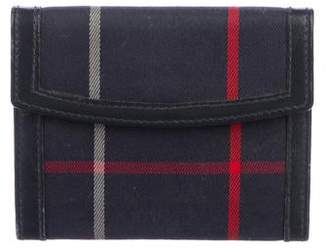 Burberry Check Canvas Compact Wallet