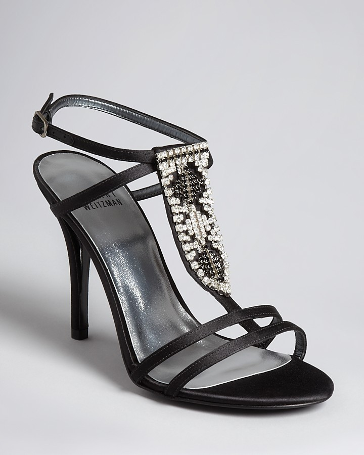 Stuart Weitzman Evening Sandals - Tabaka High Heel
