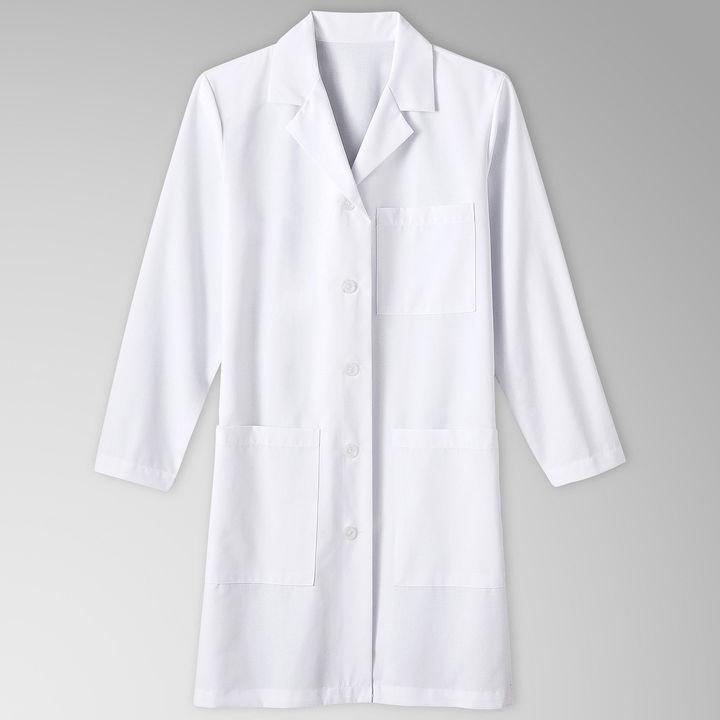 JCPenney White Swan Meta Womens 3-Pocket Lab Coat