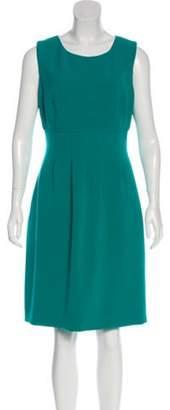 Lela Rose Sleeveless Knee-Length Dress Turquoise Sleeveless Knee-Length Dress