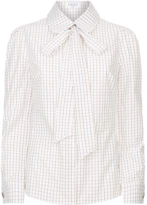 Claudie Pierlot Tie Collar Check Shirt