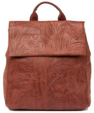 AMERICAN LEATHER CO. Liberty Leather Flap Backpack