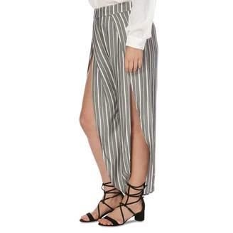 Black Combo Rosemary Slit Trousers