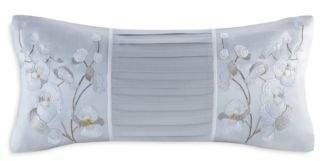 """Natori White Orchid Decorative Pillow, 10"""" x 20"""""""