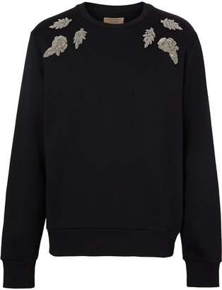 Burberry floral embellished sweatshirt