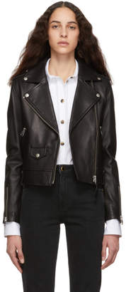 Mackage Black Leather Baya Jacket