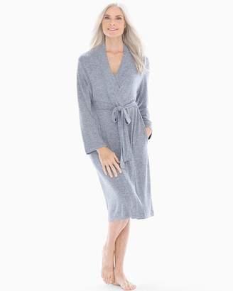 Natori N By Sweater Knit Robe Heather Ink