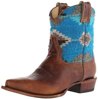 Stetson Women's Serape Snip Toe Ankle Boot 7.5 B - Medium