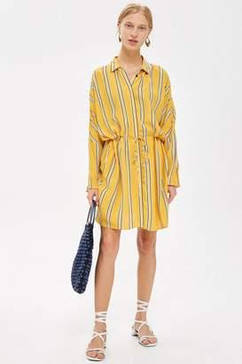 Topshop TALL Stripe Drawstring Shift Dress