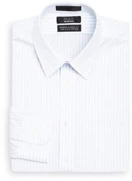 Saks Fifth Avenue BLACK Classic-Fit Stripe Dress Shirt