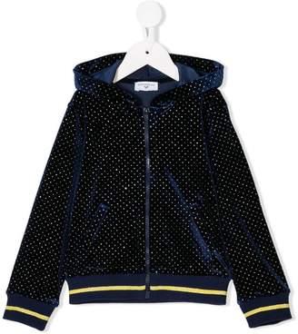 MonnaLisa glitter detail hoodie