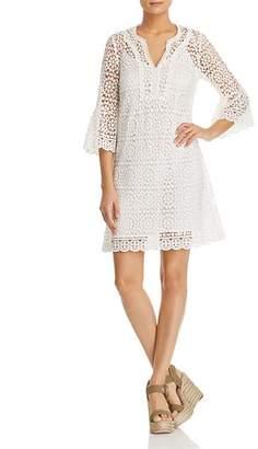 Kate Spade Crochet Lace Bell-Sleeve Dress
