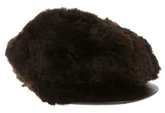 Surell Fur Leather-Trimmed Hat