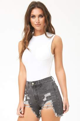 Forever 21 Momokrom Distressed High-Rise Shorts