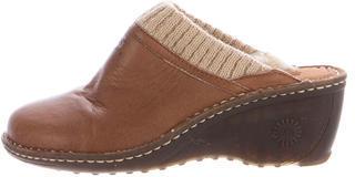 UGGUGG Australia Leather Round-Toe Mules