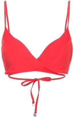 Seafolly quilted wrap front booster bikini top