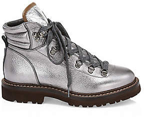 Brunello Cucinelli Women's Shiny Lamé Urban Hiking Boots