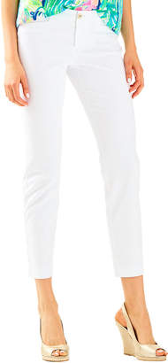 Lilly Pulitzer 29 Kelly Textured Ankle Length Skinny Pant