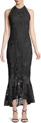Shoshanna Carmina Guipure Lace High-Low Gown