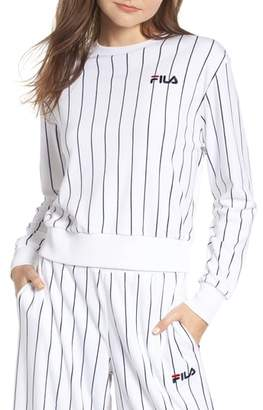 Fila Parker Stripe Velour Sweatshirt
