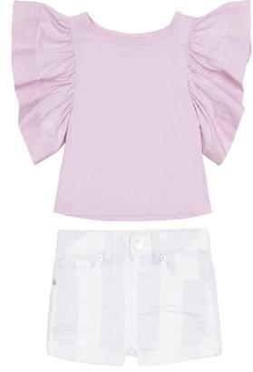 Habitual Reina Flutter Top & Shorts Set