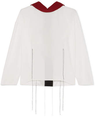 Marni - Tie-back Crepe Top - White