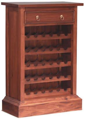 1 Drawer Wine Rack Finish: Mahogany