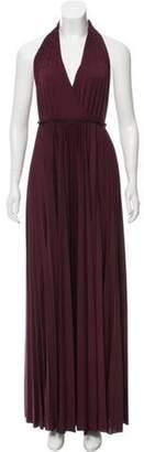 Halston Halter Maxi Dress w/ Tags Purple Halter Maxi Dress w/ Tags