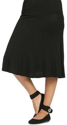 24/7 Comfort Apparel Women's Calf-Length Skirt