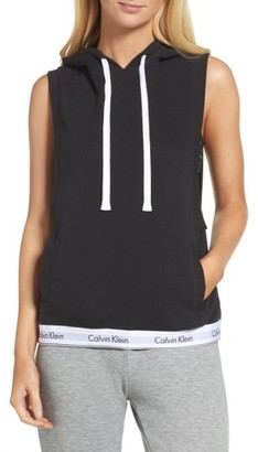 Women's Calvin Klein Sleeveless Lounge Hoodie $79 thestylecure.com