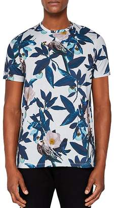 Ted Baker Limited Edition Duckegg Bird Print Tee