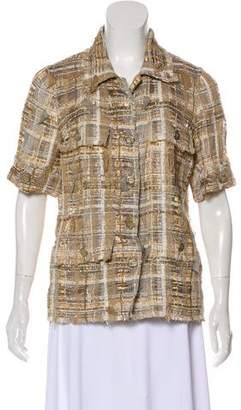Chanel Metallic Tweed Top