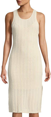 Astr Open-Weave Cable-KNit Midi Sheath Dress