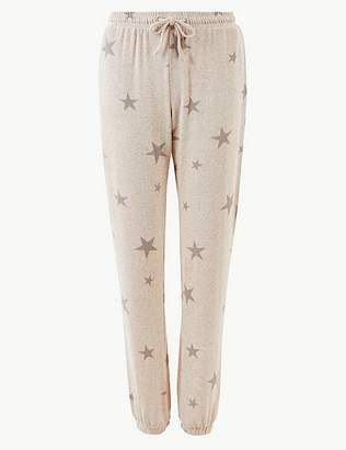 Marks and Spencer Star Print Cosy Lounge Bottoms