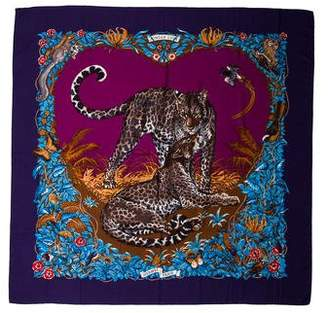 Hermes Jungle Love Cashmere and Silk Shawl w/ Tags