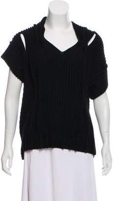 Bottega Veneta Short Sleeve Wool Sweater