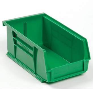 Quantum Storage Systems Plastic Stackable Bin 4-1/8 x 7-3/8 x 3, Green, Lot of 24