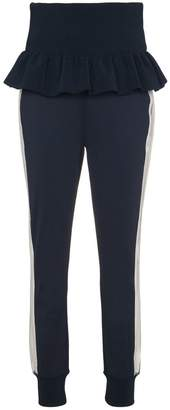 Ganni Presbourg high waisted track pants