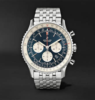 Breitling Navitimer 1 Chronograph 46mm Steel Watch, Ref. No. Ab0127211c1a1 - Navy